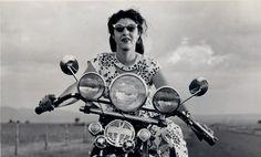1940s biker girl.