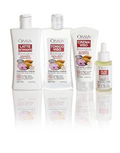 Linea OMIA EcoBioVisage Mandorla e Malva per pelli normali, secche e sensibili