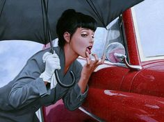 Vintage Classic Cars and Girls: Danielle by Greg Hilderbrandt
