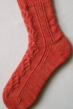 Knit Sock Pattern:  Cam cable sock
