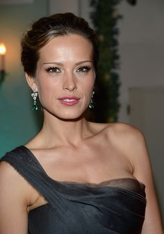 Petra Nemcova wearing Avakian diamond and emerald earrings at the Cannes Film Festival.