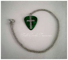 Hey, I found this really awesome Etsy listing at https://www.etsy.com/listing/227789443/cross-and-emerald-green-guitar-pick
