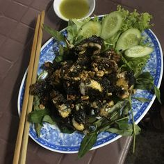 Here is the final prepared grilled frog dish. It looks beautiful and was delicious! #vietnam #vietnamesefood #exotic #frog
