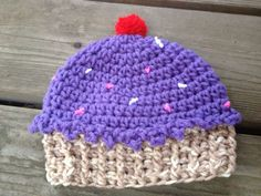 Cupcake Hat Crochet Pattern by ItsATealThing on Etsy, $3.99