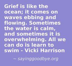 Grief is like the ocean.