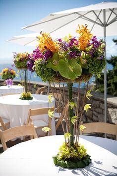 ZWADA home -  contemporary flower arrangement - wedding : summer garden wedding - west vancouver