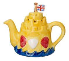 The 'Sandcastle' one-cup Teapot by CartersofSuffolk on Etsy