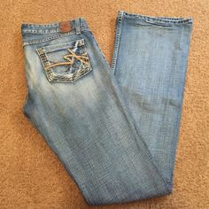 Women's BKE Sabrina Stretch Jeans 30x37 1/2 Beautiful pair of Women's BKE Jeans these are a long length of 37 1/2 inches on inseam and waist is 30 Sabrina Stretch BKE Jeans Boot Cut