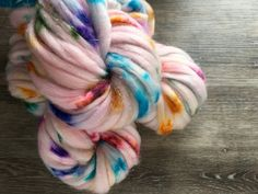 hand dyed fibre  ready to ship  JELLYFISH  by YarnInkstudio
