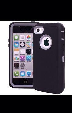 Armor Defender Case Cover Built In Screen For Appel Iphone 5  (black-white) #UnbrandedGeneric