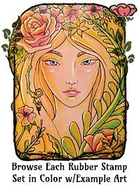 Browse over 50 rubber stamp sets in full color with example art one page at a time