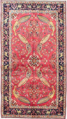 Persian Keshan peacock rug