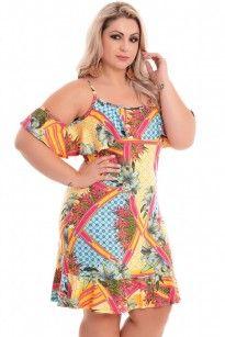 Vestido Plus Size Tropical Drink