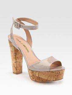 Pour La Victoire Nasha Patent Leather Platform Sandals