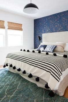 Get inspired by Eclectic Bedroom Design photo by Veneer Designs. Wayfair lets you find the designer products in the photo and get ideas from thousands of other Eclectic Bedroom Design photos. Blue Bedroom, Master Bedroom, Bedroom Decor, Bedroom Furniture, Bedroom Retreat, Bedroom Small, Furniture Chairs, Bedroom Ideas, Inspiration Design