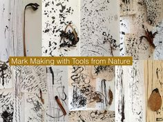 Mark making tools from nature -The Visionary ART Workshop Sgraffito, Making Tools, Making Ideas, Tinta China, Visionary Art, Mark Making, Teaching Art, Art Sketchbook, Art Techniques