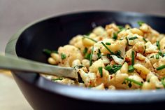 pan roasted cauliflower
