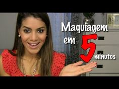 Camila Coelho's take on 5-minute make-up challenge (Portuguese language)