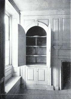 Colonial America: the simple life... a china closet from 1756 from a Pennsylvania house