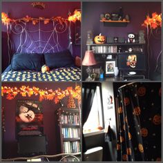 thespookshaveamidnightjamboree for those who are curious this is how my bedroombathroom looks 365 days out of the year yes its my actual bedroom - Halloween Room Decor