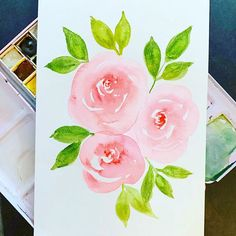 #watercolorroses hashtag on Instagram ... from moejoedesigns ... Watercolor Rose, Stampin Up, Mary, Instagram