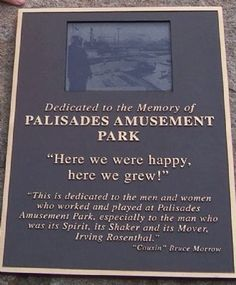 palisades amusement park | Palisades Amusement Park Marker Photo, Click for full size