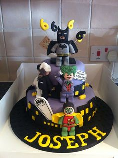 Lego Batman cake - For all your cake decorating supplies, please visit craftcompany.co.uk