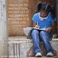 Hold on to instruction, do not let it go; guard it well, for it is your life. - Proverbs 4:13 #scripture #wisdom