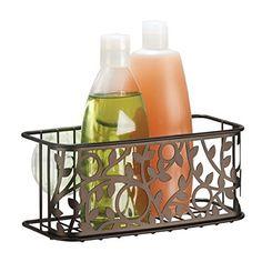 mDesign Suction Bathroom Shower Caddy Basket for Shampoo,...