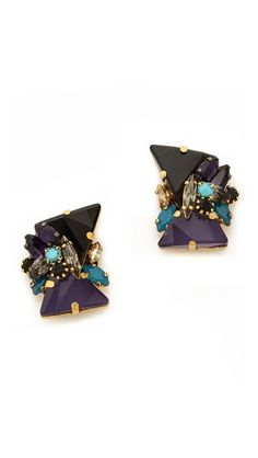 love these crystal cluster studs http://rstyle.me/n/qqfumr9te