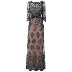 Buy Phase Eight Collection 8 Sabrina Lace Beaded Dress, Charcoal Online at johnlewis.com  Hitting the dress jackpot tonight! This one's spectacular. So elegent and yet understated.