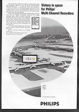 COPENHAGEN KASTRUP AIRPORT 1971 PHILIPS RECORDERS AERIAL VIEW SAS DC-7-KLM AD