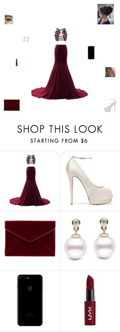 """""""prom outfit #1"""" by synclairel ❤ liked on Polyvore featuring Giuseppe Zanotti, Rebecca Minkoff, NYX, Prom, cute and ootd"""