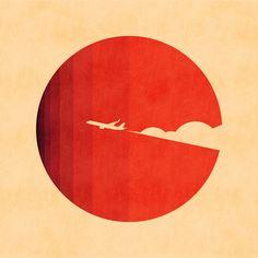 The long goodbye Art Print by Budi Satria Kwan Slow Design, Minimalistic Design, The Long Goodbye, Logo Minimalista, Drawing, Illustrator, Sun Logo, Circle Logos, Circle Art