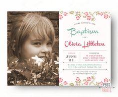 diseño imprimir ♥  ================  Si se lanza un bautismo o bautizo, dar luego a sus huéspedes un capricho con esta invitación de bautismo de la foto. También se puede personalizar el texto en esta invitación para cumpleaños, baby shower, etc..  {Ver mi otro bautismo y bautizo invitaciones} www.etsy.com/shop/PegsPrints?section_id=17254296&ref=shopsection_leftnav_5  ================  Este listado está para una invitación de impresión usted mismo encargo. No se enviará ningún producto real…