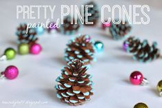 House by Hoff: Pretty Painted Pine Cones