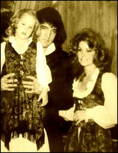 Elvis and Priscilla with Lisa at her 5th Birthday party. They both wanted Lisa to have a normal childhood.