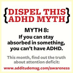 ADHD Awareness Month: 31 Myths in 31 Days—Debunked! | ADDitude: Information on Attention Deficit Symptoms, Diagnosis, Treatment, Parenting and More