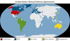 U.S. Collective Defense Arrangements Set forth below is alist of U.S. collective defense arrangements and the parties thereto: NORTH ATLANTIC TREATY   A treaty signed April 4, 1949, by which the Parties agree that an armed attack against one or more of them in Europe or North America shall be considered an attack against them all; and each of them will assist the attacked by taking forthwith, individually and in concert with the ...