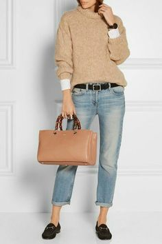 Tan and jeans - cool style - Outfit ideen - . Tan and jeans - cool style - Outfit ideen - Mode Outfits, Fall Outfits, Casual Outfits, Fashion Outfits, Dress Casual, Fashion Mode, Look Fashion, Womens Fashion, Fashion Trends