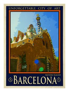 Barcelona Spain 2 Lámina
