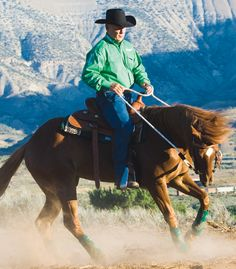 It's a cool Colorado morning and Flash is feeling  frisky. John puts the horse's energy to good use practicing turnarounds:  good article on how to control the frisky horse.