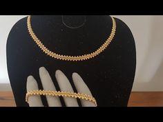 Altın Zincir Kolye & Bileklik Yapımı / Gold Necklace & Bracelet - YouTube Bead Loom Bracelets, Beaded Bracelet Patterns, Ankle Bracelets, Geek Jewelry, Bead Jewellery, Beaded Rings, Beaded Necklace, Pearl Necklaces, Jewelry Necklaces