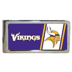 Personalized Emblem Minnesota Vikings Money Clip - For Him   $23.99