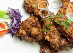 CHICKEN WINGS PEANUT SAUCE