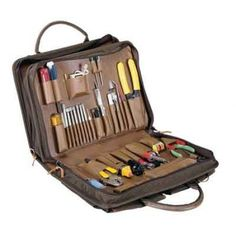 Tec-Tuff Field Engineer's Portable Tool Kit - 65 pieces - The DuPont Cordura? Plus nylon case is built to provide space for tools in the first section and a finished attach? case, with pen holder, document portfolio and legal pad holder in the second. Both sections are separated by a twin zipper.