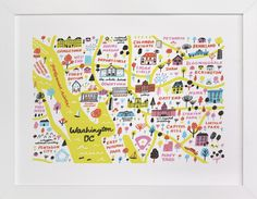 """I Love Washington D.C."" - Art Print by Jordan Sondler in beautiful frame options and a variety of sizes."