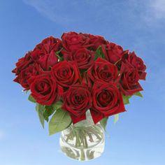 GlobalRose 16 Dozens of Fresh Cut Red Roses - Fresh Flowers For Birthdays, Weddings or Anniversary.