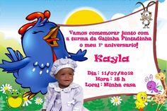 Convite digital personalizado da Galinha Pintadinha com foto 002