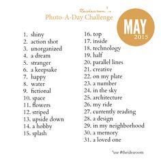 The Idea Room Photo A Day Challenge: May 2015